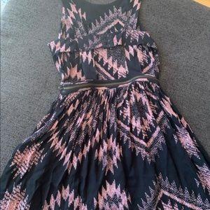 Topshop Dresses - Topshop-Pinafore flare dress